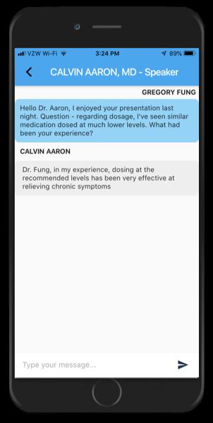 PhysicianView KOL chat screenshot